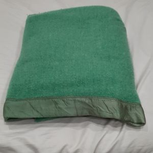 Vintage wool blanket 72 by 77 inches approximately